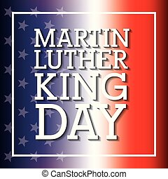 martin luther king card flag blur color