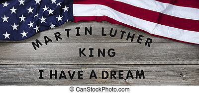 Martin Luther King Day background with text for equality
