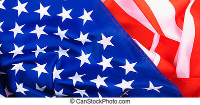 Martin luther king day, flat lay top view, American flag background