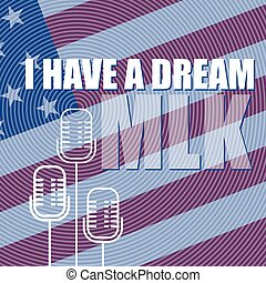 Martin Luther King Day Poster. I have a dream.