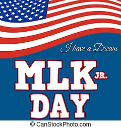 Martin Luther King Day typographic design, vector...