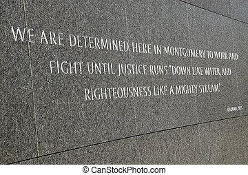Martin Luther King Jr Memorial in Washington, DC