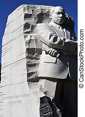 Martin Luther King Memorial, with inscription visible,...