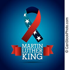 martin luther king ribbon color flag american
