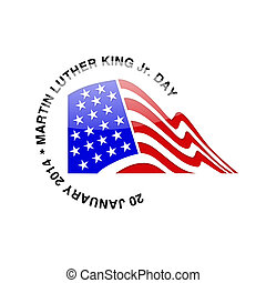 martin luther, rey, jr., día, -, 20, enero