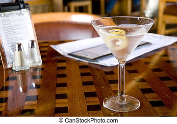 Martini at Happy Hour - Vodka Martini with a twist on a...