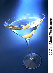 Martini Blue - Martini with blue light background