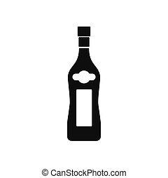 Martini bottle icon, silhouette style