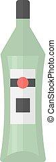 Martini bottle vector illustration.