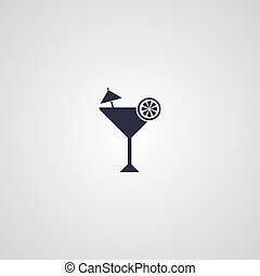 martini cocktail glass logotype