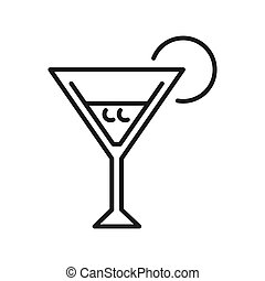 martini cocktail illustration design
