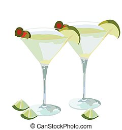 Martini cocktail isolated