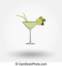 Martini cocktail.