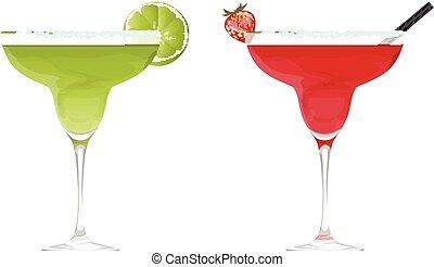 Martini cocktail set.
