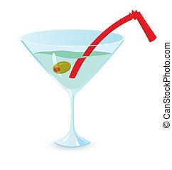 Martini cocktail vector illustration