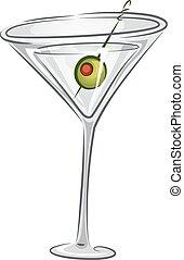 martini, drycken