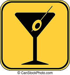 Martini glass button.