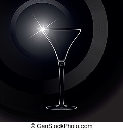 Martini glass. cocktail. Vector.