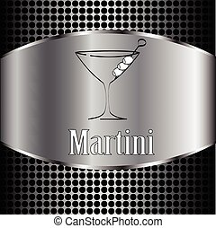Martini glass design menu background. Vector