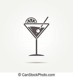 Martini glass icon