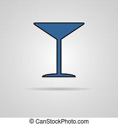 Martini glass icon. Vector illustration