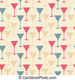 martini glass seamless pattern vector illustration