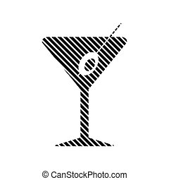 Martini glass sign.