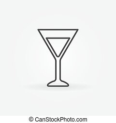 Martini glass simple icon