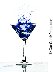 martini glass splash bar background