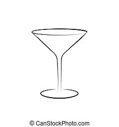 Martini glass vector icon