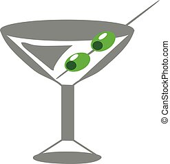 Martini Glass  -  Vector illustration