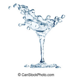 Martini glass with water drops