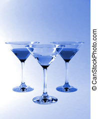 Martini glasses with clipping path