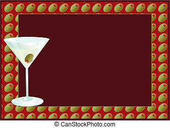 Martini Invite - Martini invitaion with room for your text