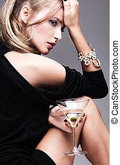martini, mulher