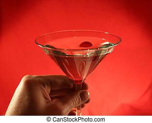 martini, popijając