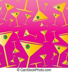Martini seamless pattern - Martini drink seamless texture...