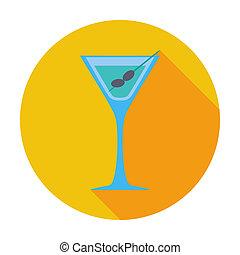 Martini single icon.