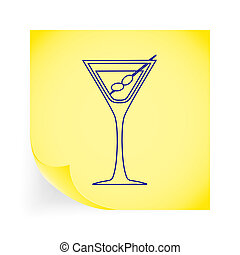 martini, solo, icon.
