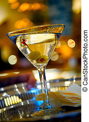 Martini with Two Olives - Image of a martini with two olives...