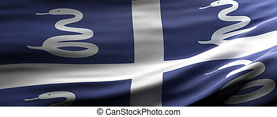 Martinique national flag waving texture background. 3d ...