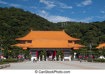 Martyrs' Shrine, Taipei, Taiwan; photographed in November...