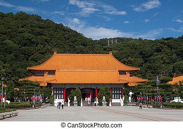 Martyrs' Shrine, Taipei, Taiwan; photographed in November...