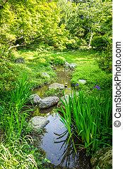 Maruyama japanese garden, Kyoto, Japan - Maruyama japanese...