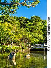 Maruyama Park in Kyoto, Japan. Spring scene