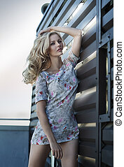 Marvelous blonde girl