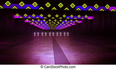 """Marvelous Multicolored Lines and Squares in Tunnel"" - ""An..."