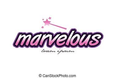 Amazing word comic book pop art vector ~ Illustrations ... |Marvelous Word Art