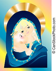 Mary and Jesus,
