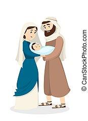 Mary and Joseph.